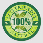 Eco el 100% amistoso natural etiqueta