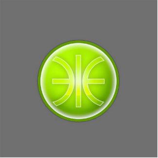 eco era logo photo sculpture button