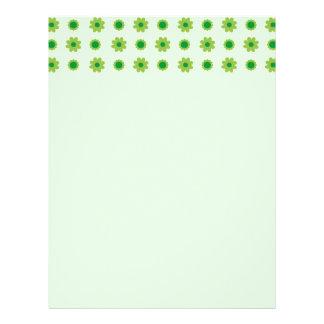 Eco Floral Green Pattern Letterhead Design