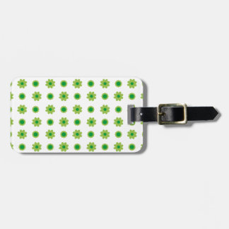 Eco Floral Green Pattern Tags For Bags