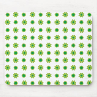 Eco Floral Green Pattern Mouse Pad