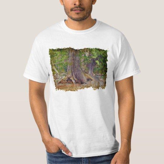 "Eco Forest ""Tree Hugger"" Grunge-style Art T-Shirt"