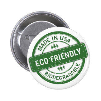 eco friendly 2 inch round button