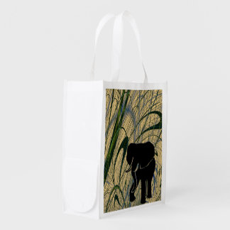 Eco Friendly African Elephant Jungle Grocery Bag