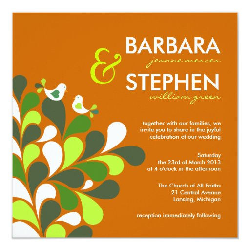 Eco Friendly Wedding Invitations with awesome invitations sample