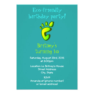 Eco Friendly Birthday Party Card