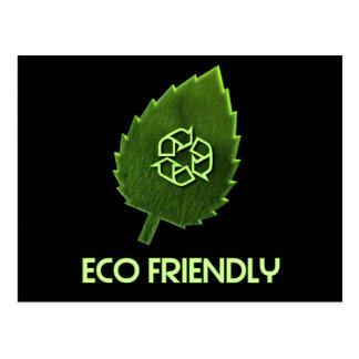 Eco Friendly Black Postcard