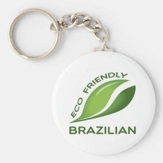 Eco Friendly Brazilian Basic Round Button Keychain