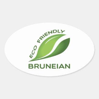 Eco Friendly Bruneian. Oval Sticker