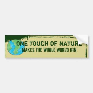 eco friendly bumper sticker car bumper sticker
