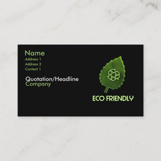 Eco friendly business card zazzle eco friendly business card colourmoves