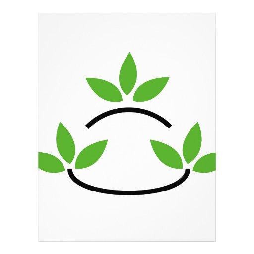 Eco friendly business logo customized letterhead