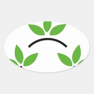 Eco friendly business logo oval sticker