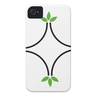 Eco friendly business logo with green leaves iPhone 4 covers