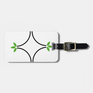 Eco friendly business logo with green leaves luggage tag
