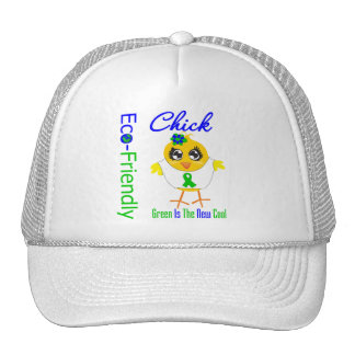 Eco-Friendly Chick Green Is The New Cool v2 Trucker Hat
