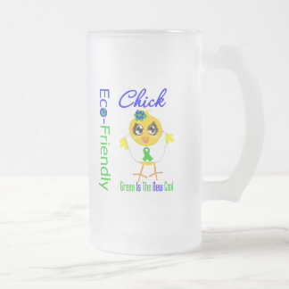 Eco-Friendly Chick Green Is The New Cool v2 Mug