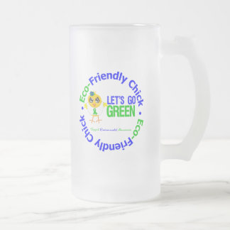 Eco-Friendly Chick Lets Go Green Coffee Mugs