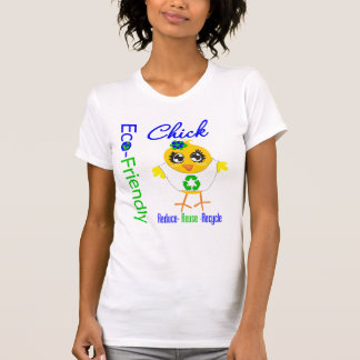 Eco-Friendly Chick Reduce Reuse Recycle T Shirts