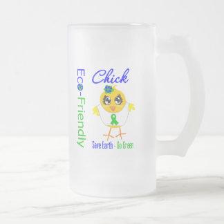 Eco-Friendly Chick Save Earth Go Green Coffee Mug