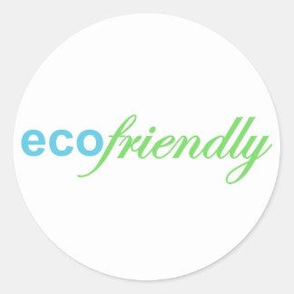 Eco Friendly Classic Round Sticker