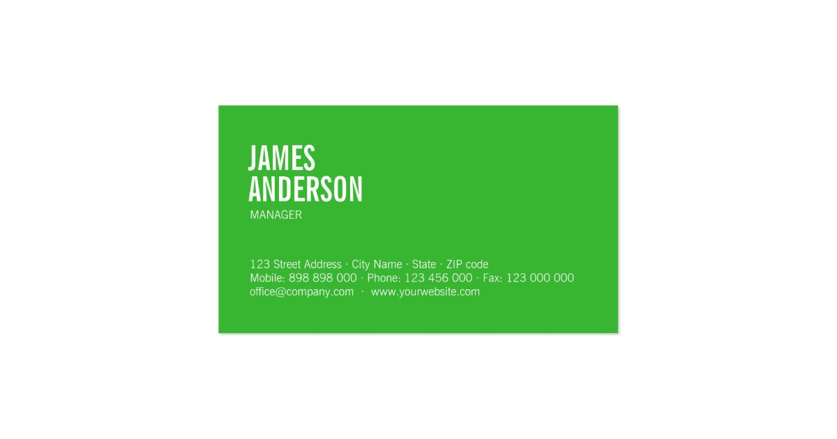Green Cleaning Services Business Cards