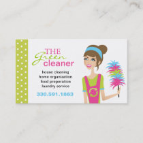 Eco-Friendly Cleaning Services Business Cards