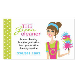 Eco-Friendly Cleaning Services Business Cards Business Card Template