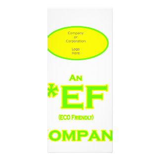 ECO Friendly Company Full Color Rack Card
