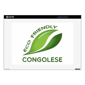 """Eco Friendly Congolese. 15"""" Laptop Skins"""