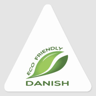 Eco Friendly Danish. Triangle Sticker