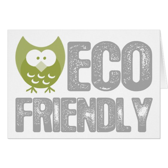 Eco Friendly Design! Ecology product! Card