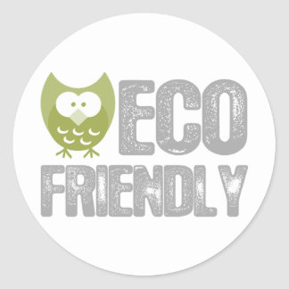Eco Friendly Design! Ecology product! Classic Round Sticker