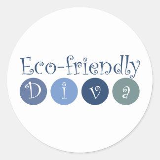 Eco-friendly Diva Classic Round Sticker