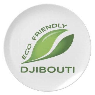 Eco Friendly Djibouti. Melamine Plate