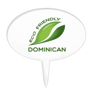 Eco Friendly Dominican. Cake Topper