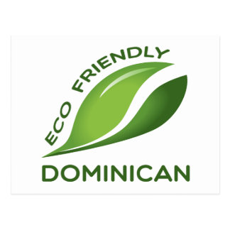 Eco Friendly Dominican. Postcard
