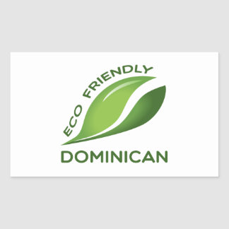 Eco Friendly Dominican. Rectangular Sticker