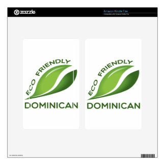Eco Friendly Dominican. Skin For Kindle Fire