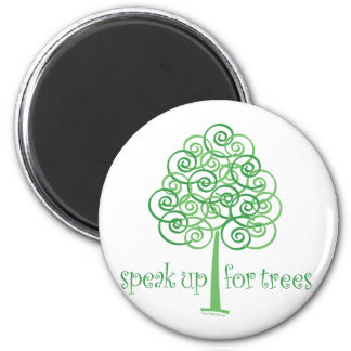 Eco-Friendly, Earth-Friendly, Love Trees 2 Inch Round Magnet