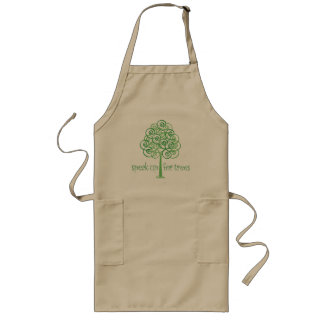 Eco-Friendly, Earth-Friendly, Love Trees Long Apron