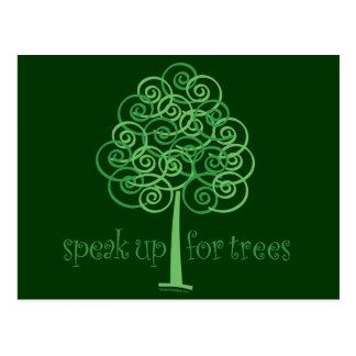 Eco-Friendly, Earth-Friendly, Love Trees Post Card