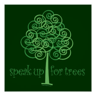 . Eco-Friendly, Earth-Friendly, Love Trees Poster