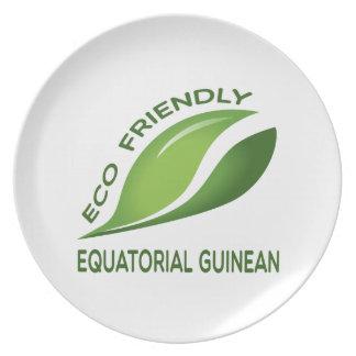 Eco Friendly Equatorial Guinean. Plate