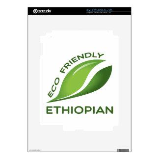 Eco Friendly Ethiopian. Decals For iPad 2
