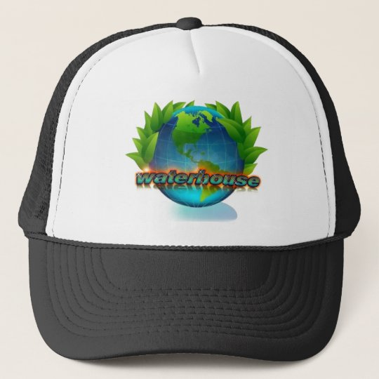 eco friendly globe trucker hat