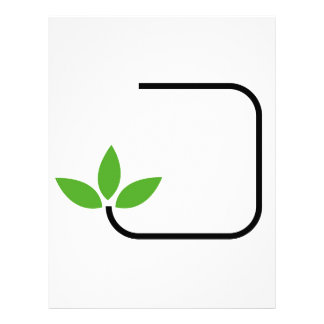 Eco friendly graphic customized letterhead