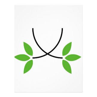 Eco friendly graphic letterhead