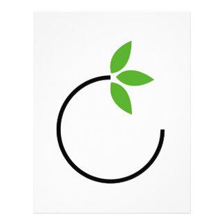 Eco friendly graphic letterhead design