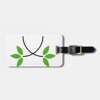 Eco friendly graphic travel bag tags